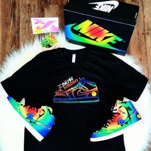 Nike Air Jordan 1 x Jbalvin Custom Shirt AJ1